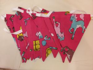 COTTON PONY BUNTING - 4 Metre approx. 12 Flags approx.